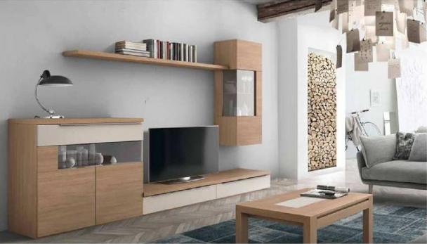 decoración para salón en madera
