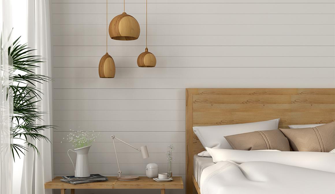 Dormitorio decoración madera